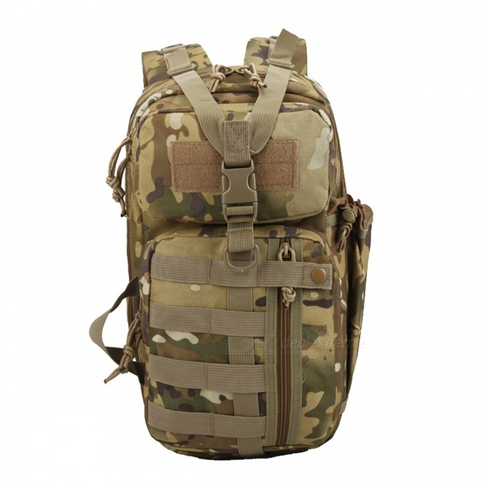 Tactical 3P Assault Backpack for Hiking Traveling - Desert CamoForm  ColorDesert CamouflageBrandOthers,OthersModel3P Tactical Backpack Archery BagQuantity1 DX.PCM.Model.AttributeModel.UnitMaterial600DGear Capacity37 DX.PCM.Model.AttributeModel.UnitCapacity Range20L~40LRaincover includedNoBest UseSwimming,Running,Climbing,Family &amp; car camping,Mountaineering,Travel,FishingTypeTactical BackpacksPacking List1 x Tactical Backpack<br>
