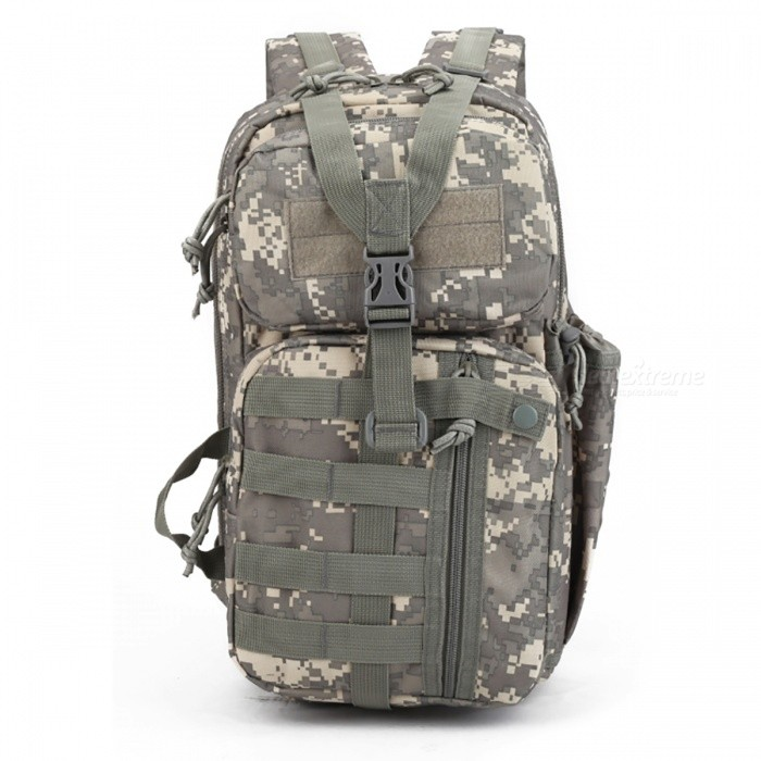 Tactical 3P Assault Backpack for Hiking Traveling - Marpat WoodlandForm  ColorForest Digital CamouflageBrandOthers,OthersModel3P Tactical Backpack Archery bagQuantity1 DX.PCM.Model.AttributeModel.UnitMaterial600DGear Capacity37 DX.PCM.Model.AttributeModel.UnitCapacity Range20L~40LRaincover includedNoBest UseSwimming,Running,Climbing,Family &amp; car camping,Mountaineering,Travel,FishingTypeTactical BackpacksPacking List1 x Tactical Backpack<br>