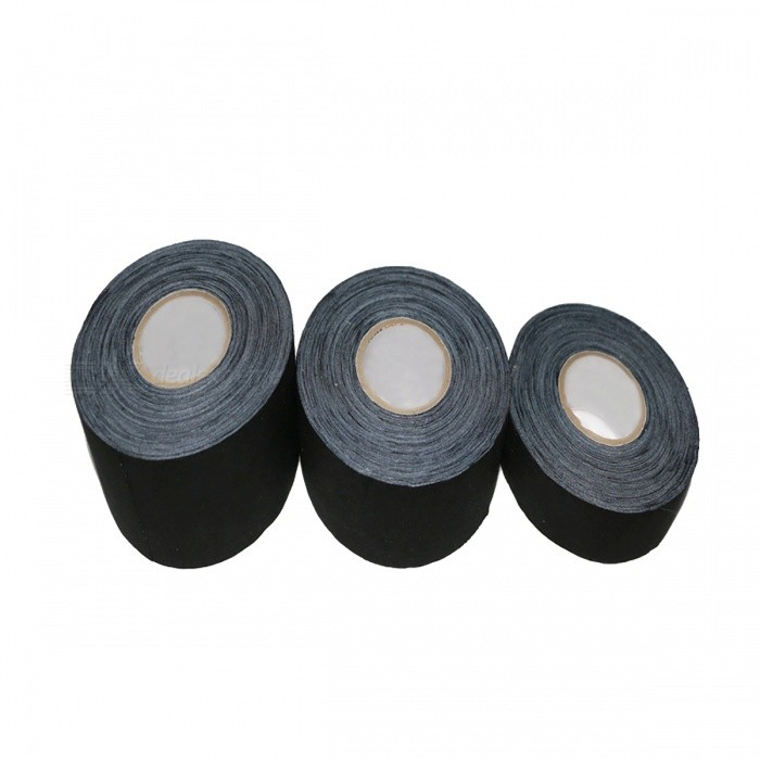 Sports Fabric Hockey Tape Ice Hockey Stick Training Tool - BlackForm  ColorBlackQuantity1 DX.PCM.Model.AttributeModel.UnitMaterialCottonPacking List1 Roll x Sports Hockey Tapes<br>