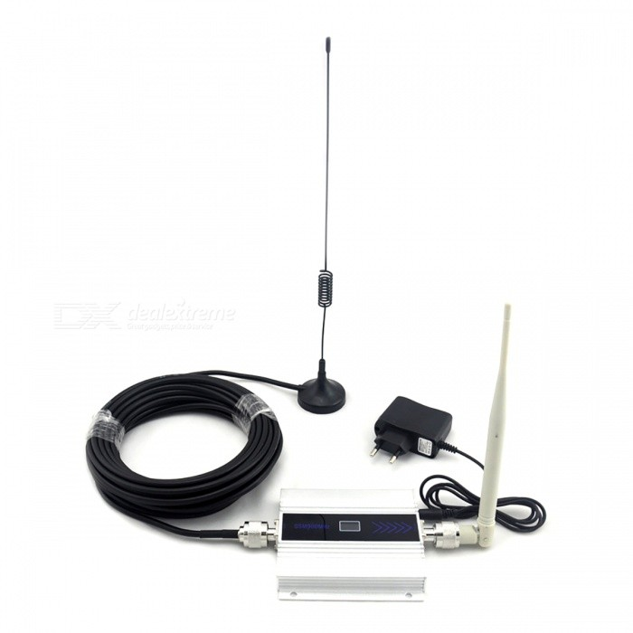 gsm handy signal booster mit antenne full set wei. Black Bedroom Furniture Sets. Home Design Ideas