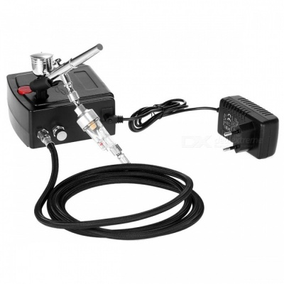 Dual Action Airbrush Air Compressor Kit Art Painting Nail Tool Set
