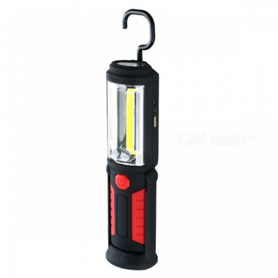 Multifunction 2-Mode 3W COB 17-LED Magnet Working Lamp - Black, Red