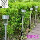 10Pcs Solar Powered Self-Recharged LED RGB Light Lawn Lamps