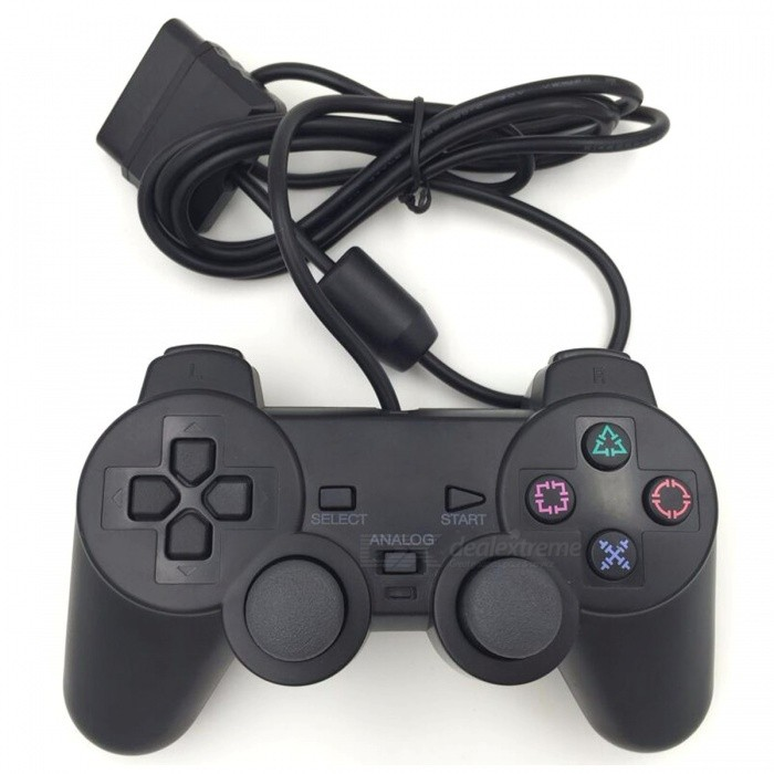 wired game controller joystick f r sony ps2 playstation 2. Black Bedroom Furniture Sets. Home Design Ideas