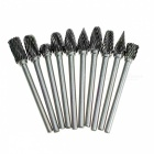 10Pcs Dremel Carbide Burrs Drill Bits Set