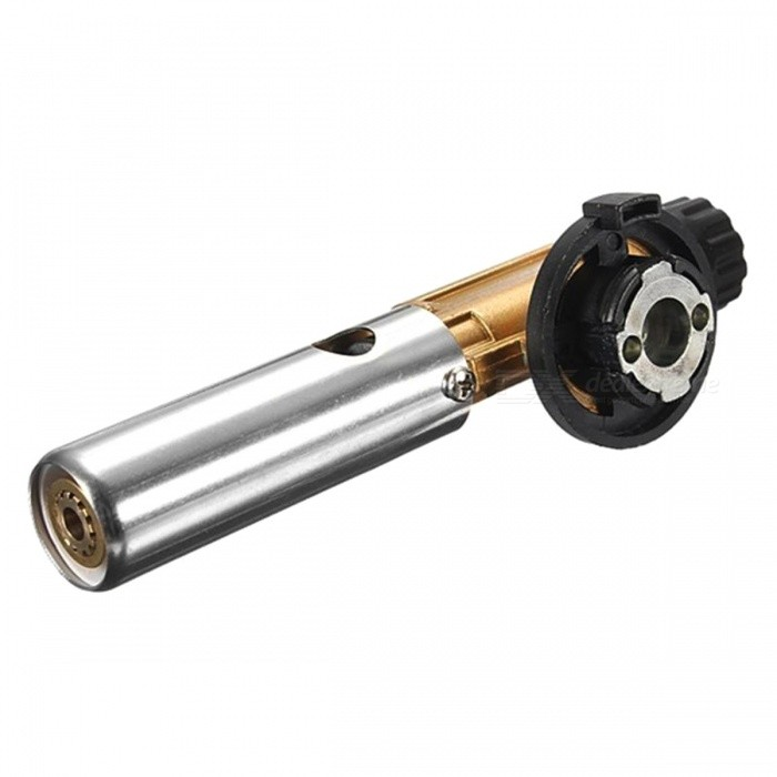 Electronic Ignition Flame Butane Gas Burners Gun Maker Torch LighterOther Tools<br>Form  ColorGoldenQuantity1 DX.PCM.Model.AttributeModel.UnitMaterialMetal, Copper, PlasticPacking List1 x 803 Ignition Heating Torch Flame Thrower<br>