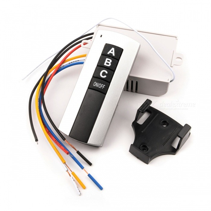 220V 3-Channel Wireless Digital Remote Control Switch for Lamp &amp; LightSwitches &amp; Adapters<br>Form  ColorWhiteQuantity1 DX.PCM.Model.AttributeModel.UnitMaterialPlasticPower Range220VMax. CurrentN/AWorking TemperatureN/A DX.PCM.Model.AttributeModel.UnitPacking List1 x Remote control switch1 x Receiver<br>