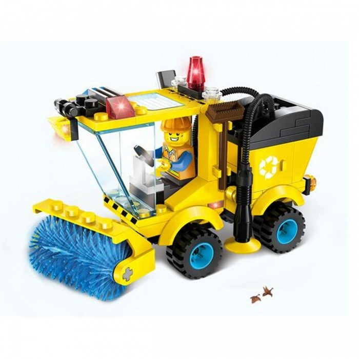 102Pcs/Set Sweeper Model Assembly Building Blocks KitBlocks &amp; Jigsaw Toys<br>Form  ColorYellowModelN/AMaterialABSQuantity1 DX.PCM.Model.AttributeModel.UnitNumber102Size12.5cm x 8cmSuitable Age 5-7 years,8-11 yearsPacking List102 x Building Blocks<br>