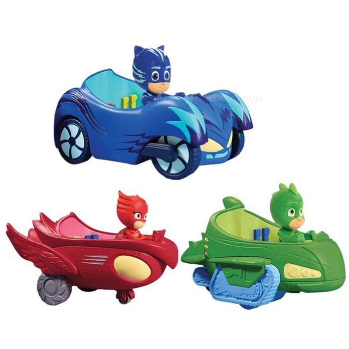 3Pcs Car Pj Characters Catboy Gekko Cloak Action Figure Freddy ToysOther Toys<br>Form  ColorRed + Blue + Multi-ColoredModelN/AMaterialPVCQuantity1 DX.PCM.Model.AttributeModel.UnitSuitable Age 3-4 years,5-7 yearsPacking List3 x Toys<br>