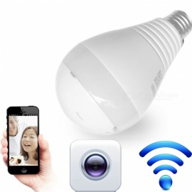 LED Bulb Light with 360 Degree Wi-Fi Wireless Panoramic Camera