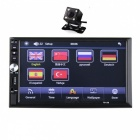 New 2 Din 6.6'' LCD Touch Screen Car Bluetooth Stereo Auto Radio Player with Rear View Camera