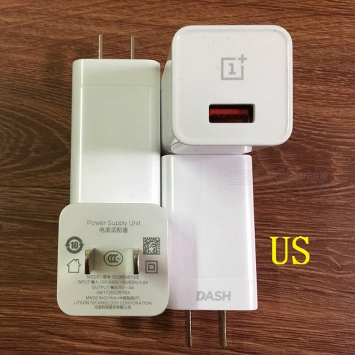 Oneplus 5V 4A US Plug Dash Charger - WhiteAC Chargers<br>Form  ColorWhiteModelN/AMaterialABSQuantity1 DX.PCM.Model.AttributeModel.UnitCompatible ModelsOneplus 3 3T 5 and more phonesInput Voltage100-240 DX.PCM.Model.AttributeModel.UnitOutput Current4 DX.PCM.Model.AttributeModel.UnitOutput Power20 DX.PCM.Model.AttributeModel.UnitOutput Voltage5 DX.PCM.Model.AttributeModel.UnitSplit adapter number1Power AdapterUS PlugQuick ChargeYesCertificationCCC,CE,WEEEPacking List1 x Charger<br>