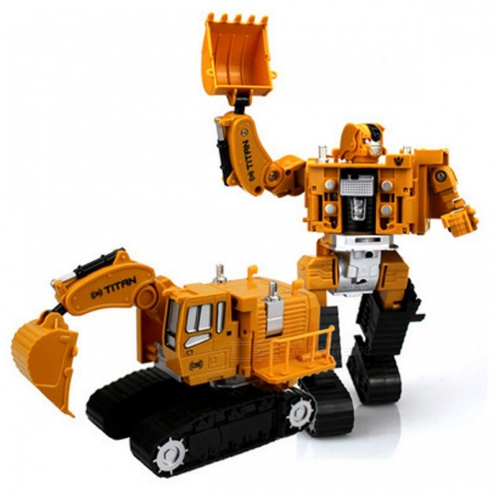 Transformation Robot Car Excavator Zinc Alloy Engineering Construction Vehicle Truck 2-in-1 Assembly Deformation Toy for KidsOther Toys<br>Form  ColorYellow (Excavator 05)ModelN/AMaterialZinc Alloy + Plastic + RubberQuantity1 DX.PCM.Model.AttributeModel.UnitSuitable Age 3-4 years,5-7 years,8-11 years,12-15 yearsPacking List1 x Toy<br>