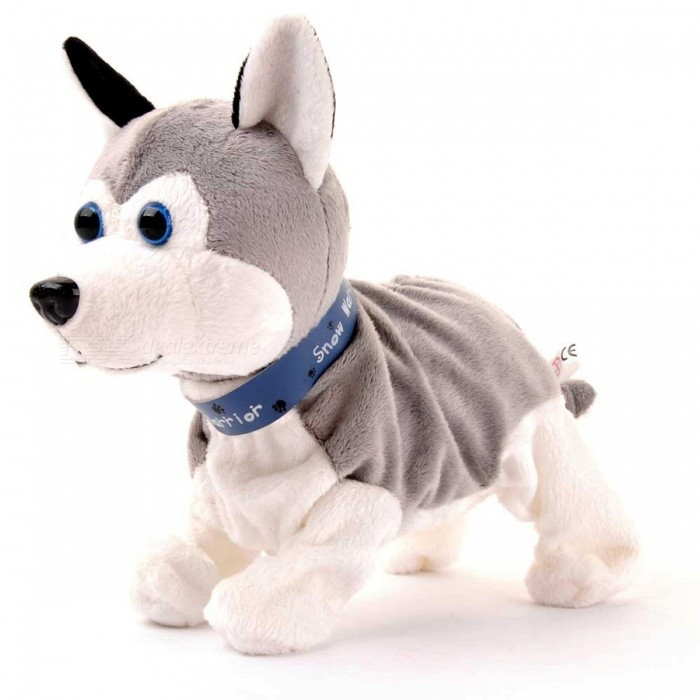Sound Control Electronic Dog Interactive Stand Walk Cute Pet Toy for Children Kids - Grey