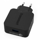 Tronsmart WC1T Quick Charge 3.0 USB Fast Wall Charger for Xiaomi / Samsung - Black (EU Plug)