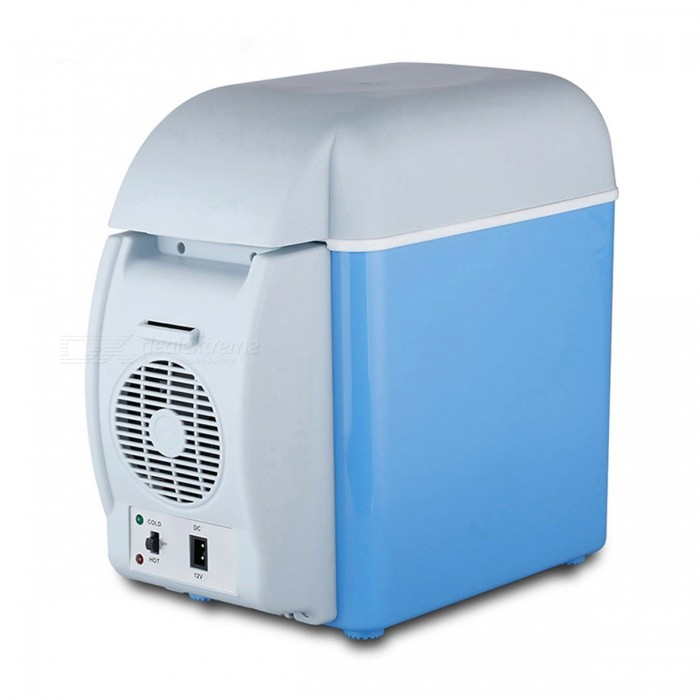 Portable Multi-Functional 7.5L Mini Car Refrigerator Cooler Freezer Warmer Fridge for Home TravelOther Interior<br>Form  ColorBlue + GreyModelBT17Quantity1 DX.PCM.Model.AttributeModel.UnitMaterialABS &amp; electronic componentsPacking List1 x Car Refrigerator<br>
