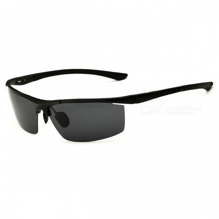 UV400 Anti-Reflective Polarized Coating Mirror Oculos Eyewear Men's Sunglasses - Black