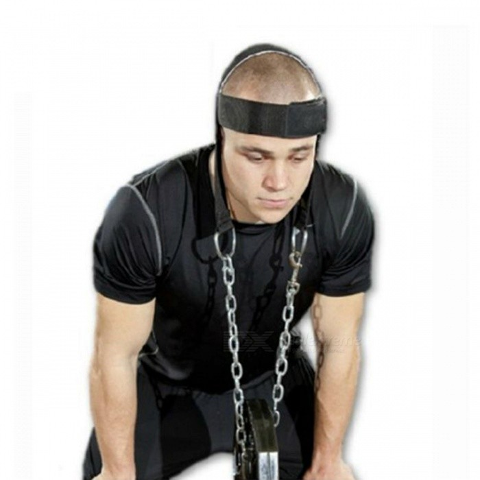 Neck Weight Lifting Strength Exercise Nylon Strap, Head Harness Belt