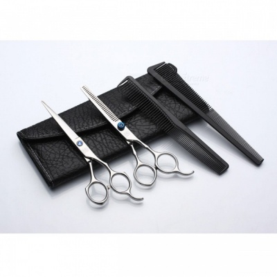 6.0 Inch Professional Styling Tool Barber Scissors with Leather Bag