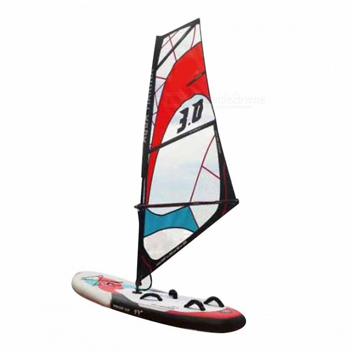 Inflatable Stand Up Sailboard Surf Board Set with Carry BagForm  ColorWhite + Black + Multi-ColoredQuantity1 DX.PCM.Model.AttributeModel.UnitMaterialOtherGenderUnisexPacking List1 x Board1 x Sail1 x Inflaiton pump1 x Carry bag<br>