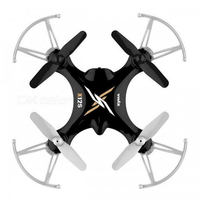Syma X12S 4CH 6-Axis Gyro RC Helicopter Mini Drone Quadcopter Indoor Toy Birthday Gift for Kids ChildrenR/C Airplanes&amp;Quadcopters<br>Form  ColorBlackModelN/AMaterialPlasticQuantity1 DX.PCM.Model.AttributeModel.UnitShade Of ColorBlackGyroscopeYesChannels Quanlity4 DX.PCM.Model.AttributeModel.UnitFunctionOthers,left/right fly side, handheld left to fly, left/right mode switch, high/low speed switch, 3D roll, 360 degree flip, headless mode.Remote TypeRadio ControlRemote control frequency2.4GHzRemote Control RangeAbout 50 DX.PCM.Model.AttributeModel.UnitSuitable Age 8-11 years,12-15 years,Grown upsCameraNoLamp YesBattery TypeAABattery Capacity100 DX.PCM.Model.AttributeModel.UnitCharging Time60 DX.PCM.Model.AttributeModel.UnitWorking TimeAbout 5 DX.PCM.Model.AttributeModel.UnitRemote Controller Battery TypeAARemote Controller Battery Number4 x AA batteries (Not Inculded)Remote Control TypeWirelessModelMode 2 (Left Throttle Hand)Packing List1 x Syma X12S RC Quadcopter1 x Transmitter 1 x USB Charging Cable 1 x 3.7V 100mAh Li-Po Battery 1 x Spare Blade Set1 x English manual<br>