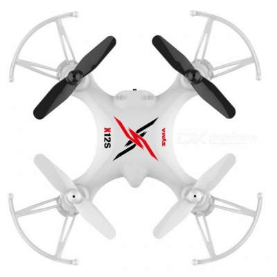 Syma X12S Mini 4CH 6-Axis Gyro RC Helicopter Drone Quadcopter with 3D Roll, 360 Degree Flip, Headless Mode - White