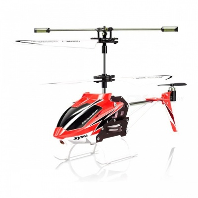 SYMA S5-N 3CH Mini RC Helicopter with Built-in Gyroscope - Red