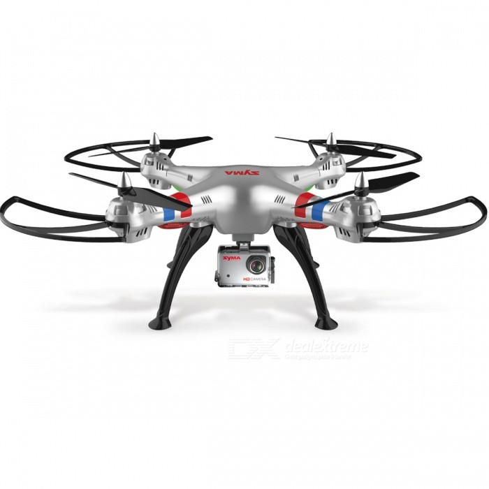 SYMA 2.4GHz 4CH 6 Axis Professional Quadcopter Drone Transmit RC Helicopter with 8.0MP HD Camera - X8G with US PlugR/C Airplanes&amp;Quadcopters<br>Form  ColorGray (X8G with US Plug)ModelN/AMaterialPlasticQuantity1 DX.PCM.Model.AttributeModel.UnitShade Of ColorGrayGyroscopeYesChannels Quanlity6 DX.PCM.Model.AttributeModel.UnitFunctionOthers,/Remote TypeRadio ControlRemote control frequency2.4GHzRemote Control Range150 DX.PCM.Model.AttributeModel.UnitSuitable Age 8-11 years,12-15 years,Grown upsCameraYesLamp YesBattery TypeLi-ion batteryBattery Capacity2000 DX.PCM.Model.AttributeModel.UnitCharging TimeAbout 180 DX.PCM.Model.AttributeModel.UnitWorking TimeAbout 10 DX.PCM.Model.AttributeModel.UnitRemote Controller Battery TypeAARemote Controller Battery Number4*AA batteries (not included)Remote Control TypeWirelessModelMode 2 (Left Throttle Hand)Packing List1 x SYMA X8C Quadcopter<br>