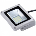 Portable IP65 Waterproof 20W Warm White LED Floodlight Spotlight Lawn Lamp - Grey