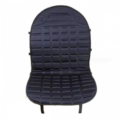 12V Heated Warm Car Seat Cushion Cover for Winter - Black (Single-Seat Version)