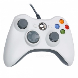 Gamepad USB Wired Joypad Gamepad Controller for PC - White