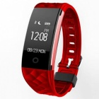 """S2 0.96"""" OLED Bluetooth Smart Band Wristband with Heart Rate Monitor - Red"""