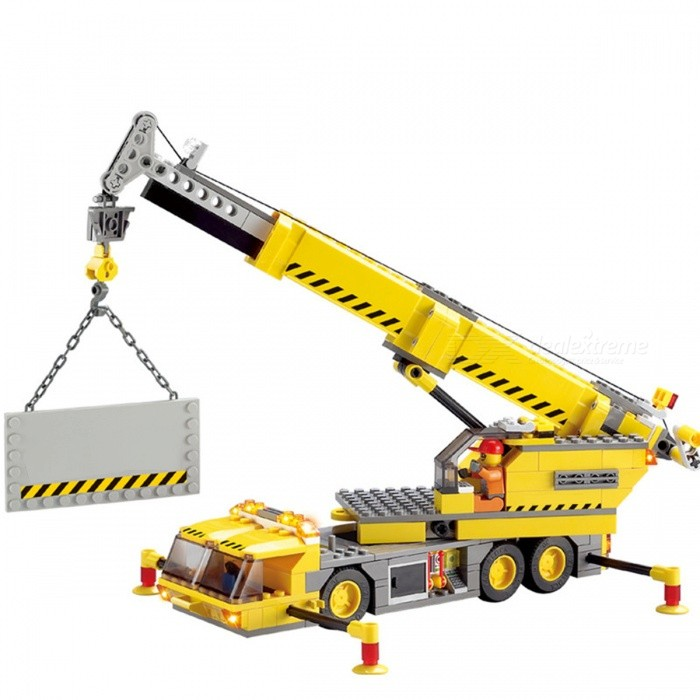 380Pcs City Crane Series Building Blocks Toy for KidsBlocks &amp; Jigsaw Toys<br>Form  ColorYellowModelN/AMaterialPlasticQuantity1 DX.PCM.Model.AttributeModel.UnitNumber380PcsSuitable Age 3-4 years,5-7 years,8-11 yearsPacking List380 x Building Blocks1 x Building Instruction Book<br>
