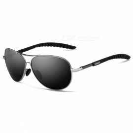 UV400 Polarized Men's Sunglasses, Suitable for Round Face, Oval Face, Long Square Face - Gray