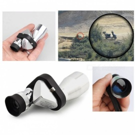 Mini 8X 20mm HD Pocket Corner Optical Monocular Telescope Microscope Eyepiece for Outdoor Hiking Climbing Wilderness Expedition