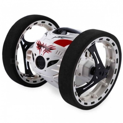 PEG SJ88 Mini 2.4GHz 2CH RC Bounce Car with Flexible Wheels, Rotating LED Light
