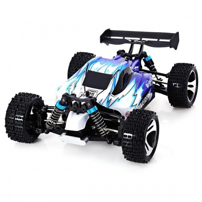 WLtoys A959 2.4G 1:18 Scale Remote Control Off-road Racing Car - Blue (US Plug)
