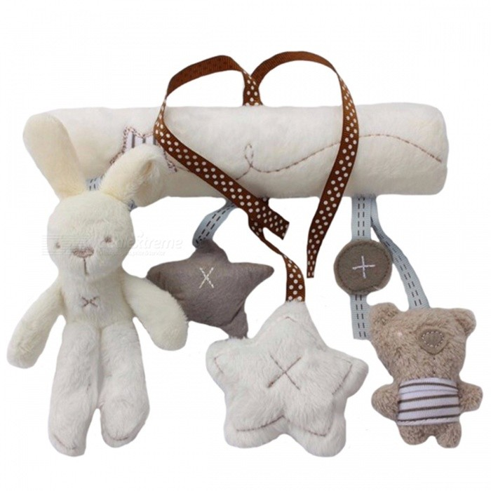 Multifunctional Hanging Plush Rabbit Baby Toy, Stroller Mobile GiftOther Toys<br>Form  ColorWhite + GreyModelN/AMaterialPlushQuantity1 DX.PCM.Model.AttributeModel.UnitSuitable Age 6-9 months,9-12 months,13-24 monthsPacking List1 x Plush Toy<br>