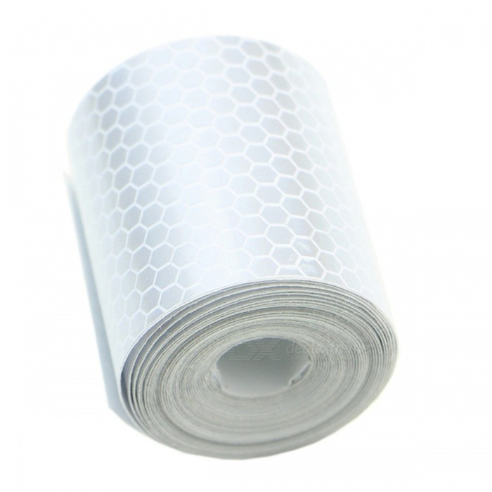 Reflective Safety Warning Conspicuity Tape Film Sticker - Silver White