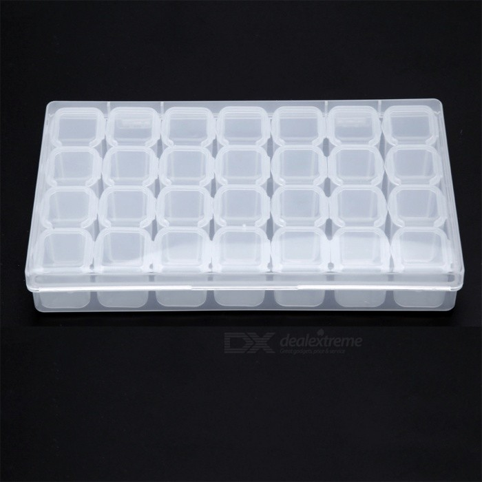 ... 28 Slots Clear Plastic Storage Box Nail Art Tools Rhinestone Jewelry  Beads Display Box Empty Case ... bf48bcae3d4c