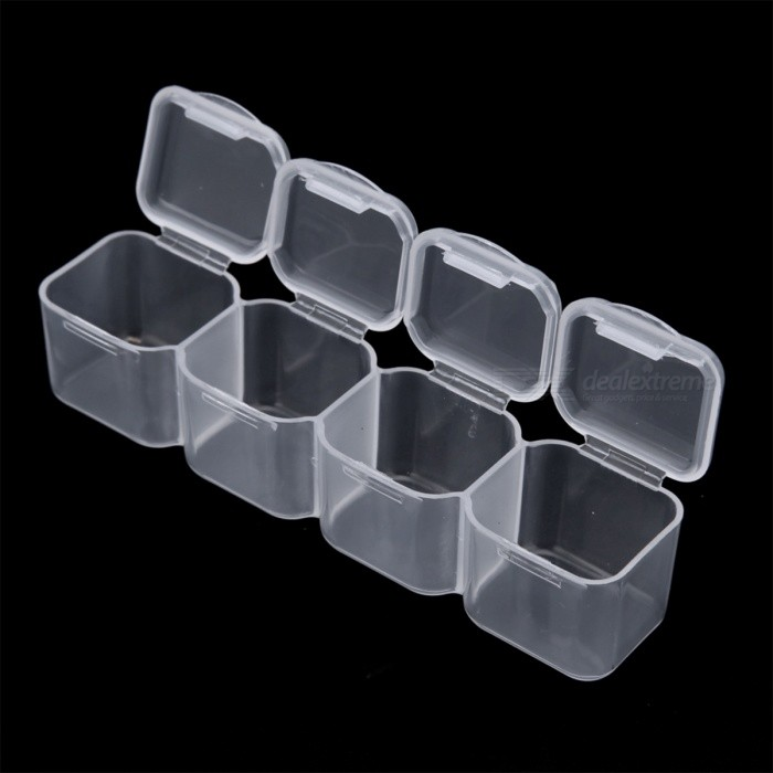 ... 28 Slots Clear Plastic Storage Box Nail Art Tools Rhinestone Jewelry  Beads Display Box Empty Case 53da8a608b94