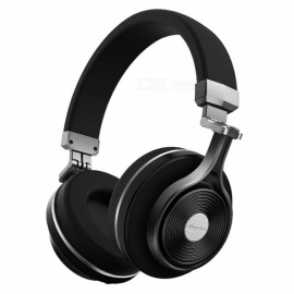 Bluedio T3 Wireless Bluetooth Headphones Headset with Microphone - Black