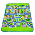 160cm x 130cm x 5mm City Road Play Mat Carpet for Children - Green