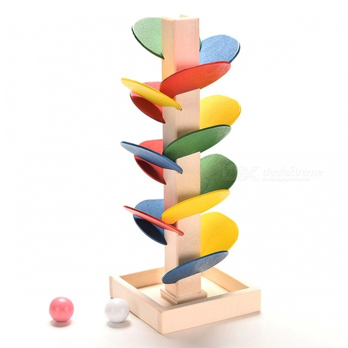 Marble Game Blocks : Building blocks tree marble ball run track game wooden toy
