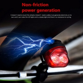 Mini Portable Bicycle Cycling Tail Rear Light with Non-Friction Power Generation