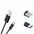 USAMS 2.1A USB Type-C Charging Sync Data Cable - Black (1M)