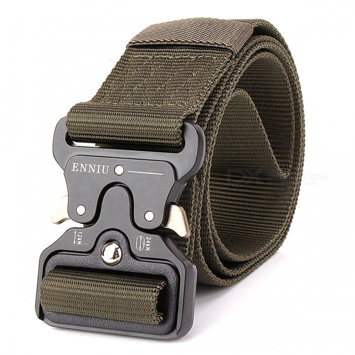 Men's Canvas Belt Metal Insert Buckle Military Army ...