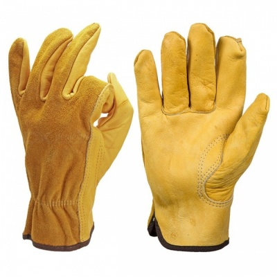 Safety Cowhide Leather Security Protection Gloves for Driver Worker - M