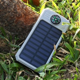 DIY Assembling Solar Powered Power Bank Enclosure Case with LED Flashlight Compass for IPHONE, IPAD, Samsung and More - Orange