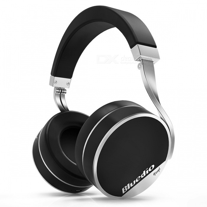 Bluedio Vinyl Plus Light Extravagance Wireless Bluetooth Headphone - BlackHeadphones<br>Form  ColorBlackBrandBluedioModelBluedio Vinyl PlusMaterialPlastic + MetalQuantity1 DX.PCM.Model.AttributeModel.UnitConnection3.5mm Wired,BluetoothBluetooth VersionBluetooth V4.1Operating Range10MConnects Two Phones SimultaneouslyYesHeadphone StyleBilateral,HeadbandWaterproof LevelOthers,SweatproofApplicable ProductsUniversalHeadphone FeaturesPhone Control,Long Time Standby,Noise-Canceling,Volume Control,With Microphone,Portable,For Sports &amp; ExerciseSupport Memory CardYesSupport Apt-XNoSensitivity116dBFrequency Response15-25000HzBattery TypeLi-ion batteryStandby Time1100 DX.PCM.Model.AttributeModel.UnitTalk Time20 DX.PCM.Model.AttributeModel.UnitMusic Play Time20 DX.PCM.Model.AttributeModel.UnitPacking List1 x Headphone1 x User manual1 x USB charging cable1 x Carrying case1 x Drawstring carry bag1 x Buckle1 x Y audio cable1 x Audio cable with remote and mic1 x 3.5mm audio cable<br>